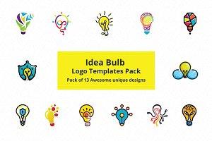 Ideas Bulb Logo Templates Pack of 13