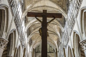 Cross in a cathedral