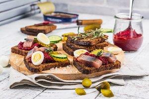 Dutch sandwich smorrebrod