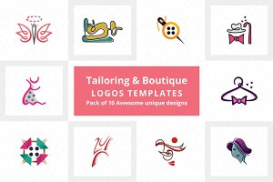 Tailoring & Boutique Logo Templates