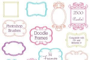 Doodle Frames Photoshop Brushes