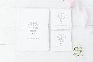 Wedding cards mockup, PSD+JPG