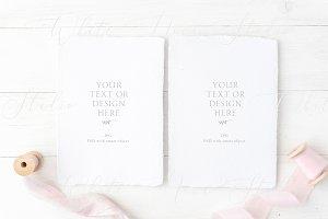 Wedding card mockup, PSD+JPG
