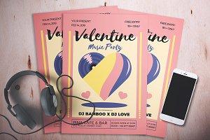 Valentine Music Party Flyer