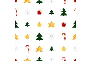Colorful Pixel Pattern with