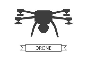Drone Icon Isolated Unmanned Aerial