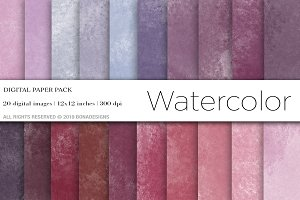 Watercolor Digital Paper,Background