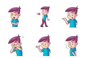 Cartoon Illustration Of Cute Boy