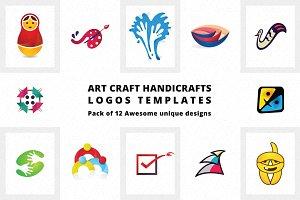 Art Craft Handicrafts Logo Templates