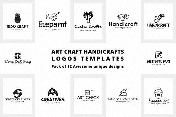 Art Craft Handicrafts Logo Templates Logo Templates Creative Market