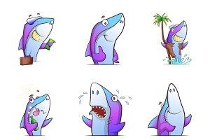 Cartoon Illustration Of Fish Set