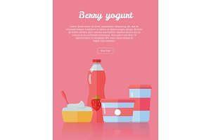 Berry Yogurt, Dairy Products from