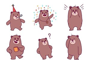 Cartoon Illustration Of Cute Bear