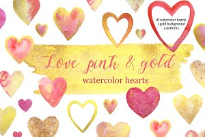 Love pink & gold. St.Valentine's Day