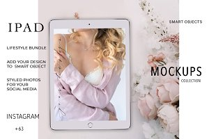 IPAD MOCKUP. LIFESTYLE BUNDLE 63 +