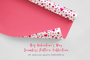 Big Valentine's Day pattern set