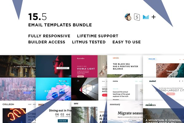 15 Email templates bundle V