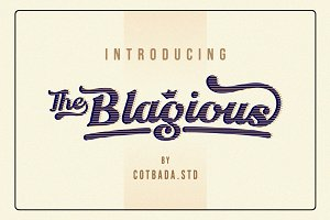 The Blagious Bold Script