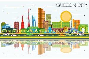 Quezon City Philippines City Skyline