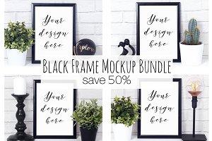 50% Off Black Frame Mock Up Bundle