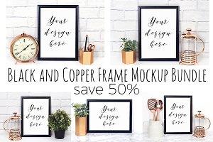 50% Off Black Frame Mockup Bundle