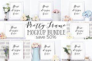 50% Off Pretty Frame Mockup Bundle