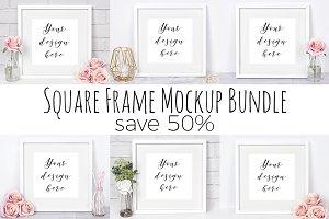 50% Off Square Frame Mockup Bundle