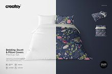 Bedding Mockup Set - Duvet & Pillows