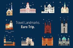 Travel Landmarks. Euro Trip.