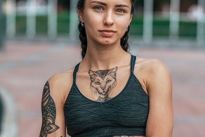 Beautiful girl is athlete with