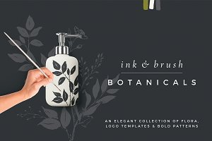 Ink botanicals, logos & patterns