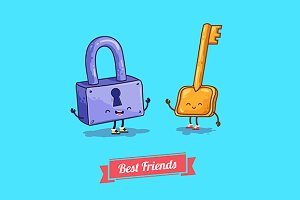 Funny characters. Best friends