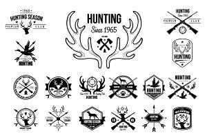 Hunting Badges Labels Logo Design