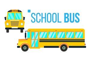 School Bus Vector. Yellow Classic
