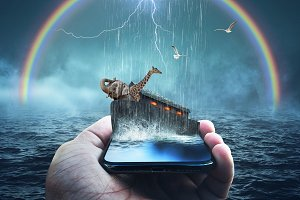 Noah's Ark Bible Story on a phone
