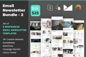Email Newsletter Template Bundle - 2