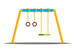 Swing Vector. Kindergarten Outside