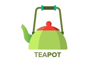 Teapot, Kettle Vector. Tea Ceremony