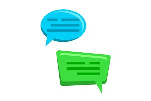 Chat Bubbles Icons Vector. Web