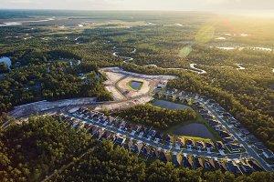 Aerial view of community in Yulee FL
