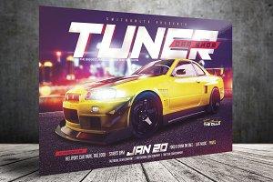 Car Show Flyer - Tuner - Horizontal