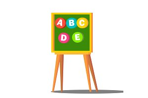 Learning Letters Board Vector