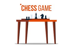 Chess Game Vector. Figures On The