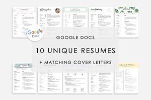 Resume Template Google Docs 10x