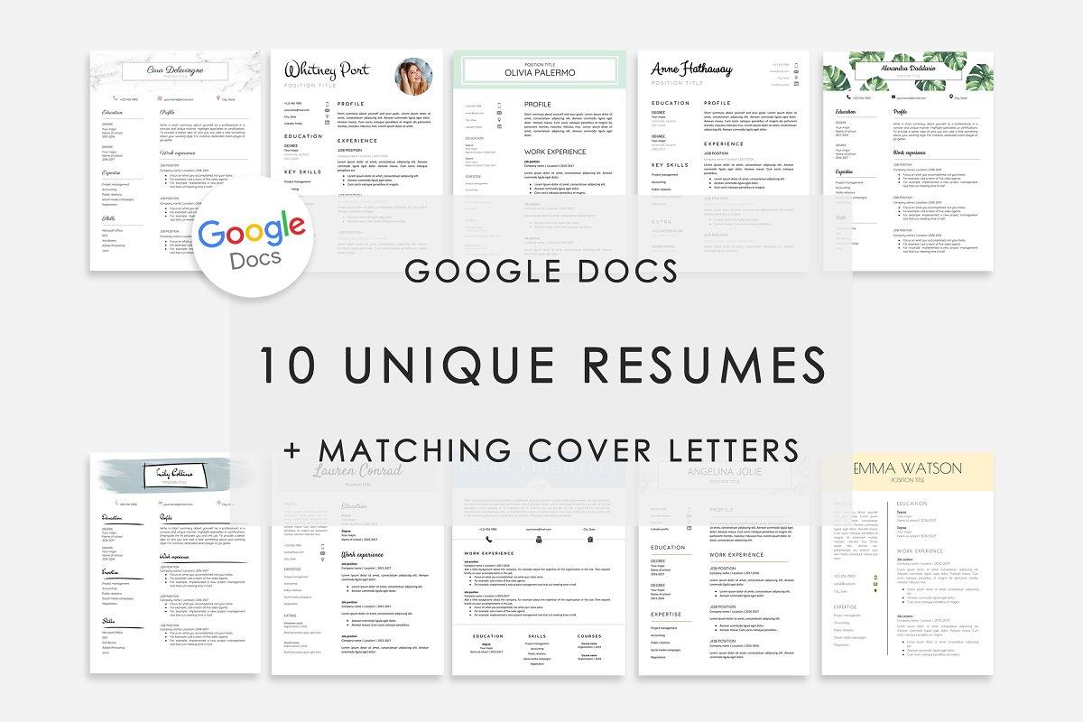 Resume Template Google Docs 10x ~ Resume Templates ...