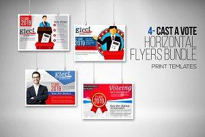Elections 4 Horizontal Flyers Bundle