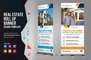 Real Estate Rollup Banner Signage v2