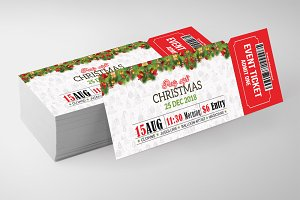 Christmas Ticket Print Templates