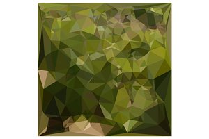 Olive Green Abstract Low Polygon Bac