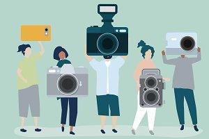 Illustration of photographers